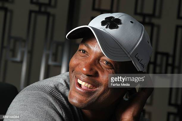 Former West Indian cricket player Brian Lara poses for a portrait on November 17, 2014 in Sydney, Australia. Lara is in Sydney to play in a Pro-Am...