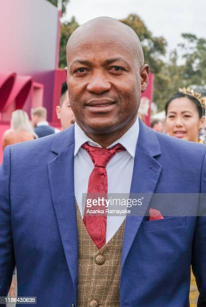 Former West Indian cricketer Brian Lara attends Stakes Day at Flemington Racecourse on November 09, 2019 in Melbourne, Australia.