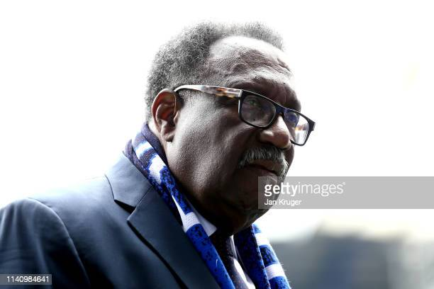 Former West Indies Cricketer, Clive Lloyd looks on prior to the Premier League match between Everton FC and Arsenal FC at Goodison Park on April 07,...