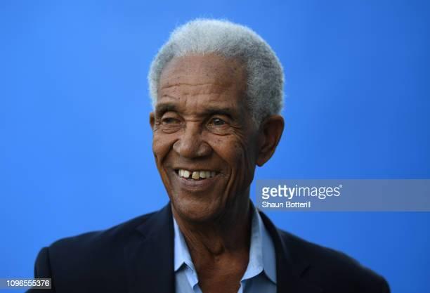 Former West Indies cricketer Sir Garfield Sobers during net practice at Kensington Oval on January 19, 2019 in Bridgetown, Barbados.