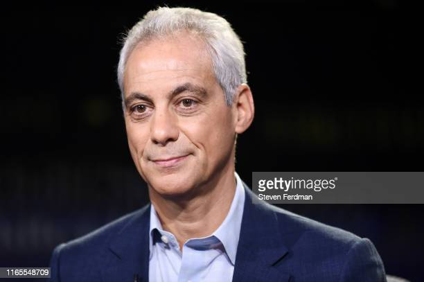 Former White House Chief of Staff and Chicago Mayor Rahm Emanuel visits WSJ at Large with Gerry Baker at Fox Business Network studios on August 1,...