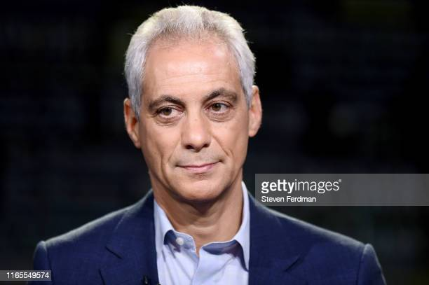 Former White House Chief of Staff and Chicago Mayor Rahm Emanuel visits WSJ at Large with Gerry Baker at Fox Business Network studios on August 01,...