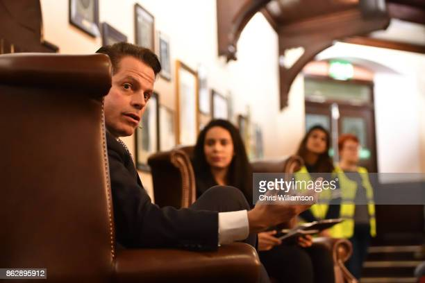 Former White House Communications Director Anthony Scaramucci addresses students at The Cambridge Union on October 18 2017 in Cambridge Cambridgeshire