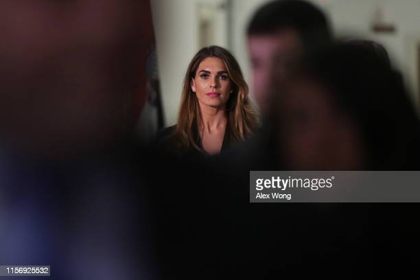 Former White House communications director Hope Hicks arrives at a closed-door interview with the House Judiciary Committee June 19, 2019 on Capitol...