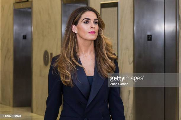 Former White House Communications Director Hope Hicks arrives before testifying to a closed door House Judiciary Committee hearing on June 19, 2019...