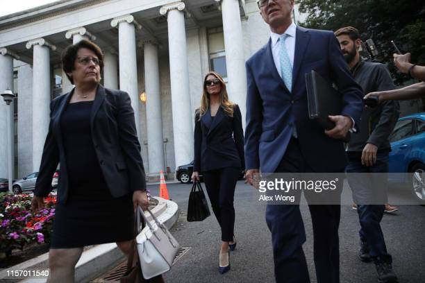 Former White House communications director Hope Hicks leaves after a closed-door interview with the House Judiciary Committee June 19, 2019 on...