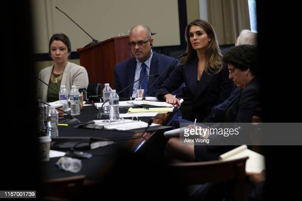 Former White House communications director Hope Hicks testifies during a closed-door interview with the House Judiciary Committee June 19, 2019 on...