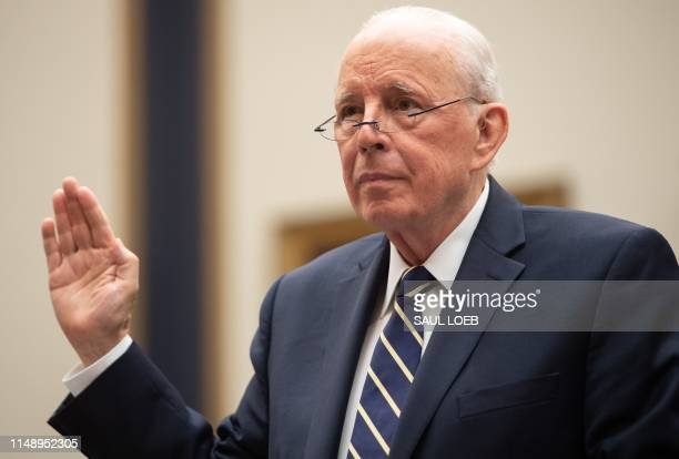Former White House Counsel John Dean is swornin as he testifies during a House Judiciary Committee hearing about Lessons from the Mueller Report...