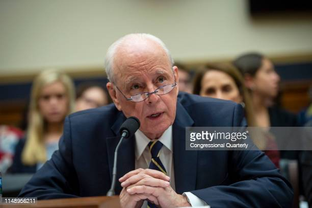 Former White House counsel John Dean speaks at a House Judiciary Committee hearing in Rayburn Building titled Lessons from the Mueller Report...