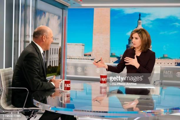 Former White House Economic Advisor Gary Cohn CBS correspondent Jan Crawford talks with Margaret Brennan on Face the Nation in Washington DC Jan 17...