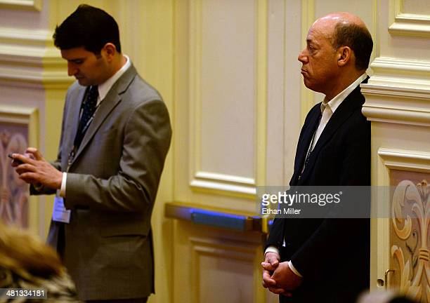 Former White House Press Secretary Ari Fleischer listens to a speech by former United States ambassador to the United Nations John Bolton during the...