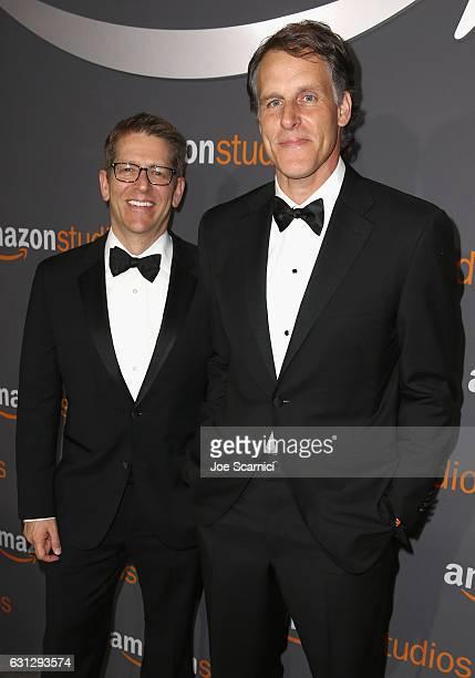 Former White House Press Secretary Jay Carney and Amazon Senior Vice President , Business DevelopmentKeffrey Blackburn attend Amazon Studios Golden...