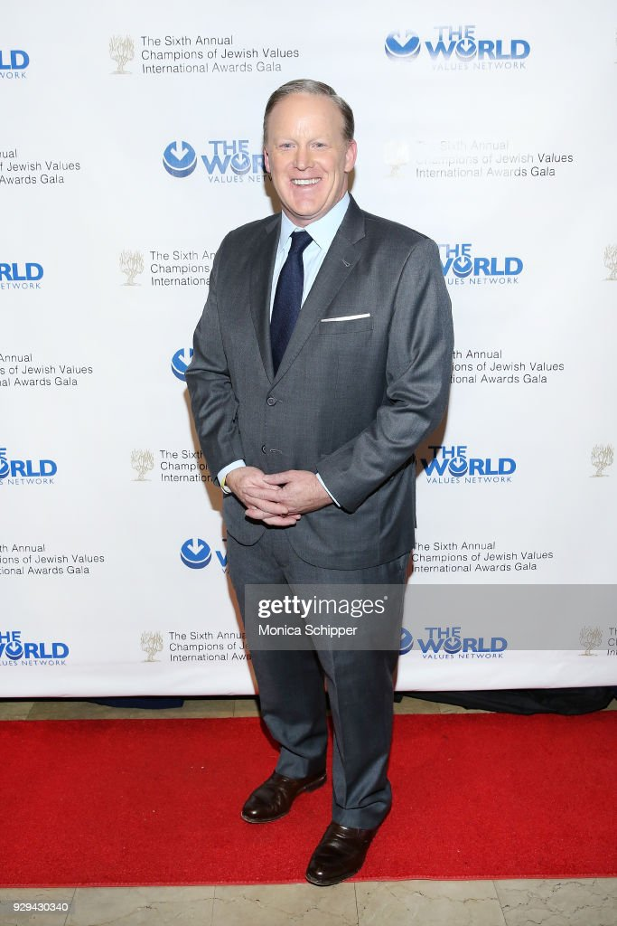 Former White House Press Secretary Sean Spicer attends the 2018 World Values Network Champions of Jewish Values Awards Gala at The Plaza Hotel on March 8, 2018 in New York City.