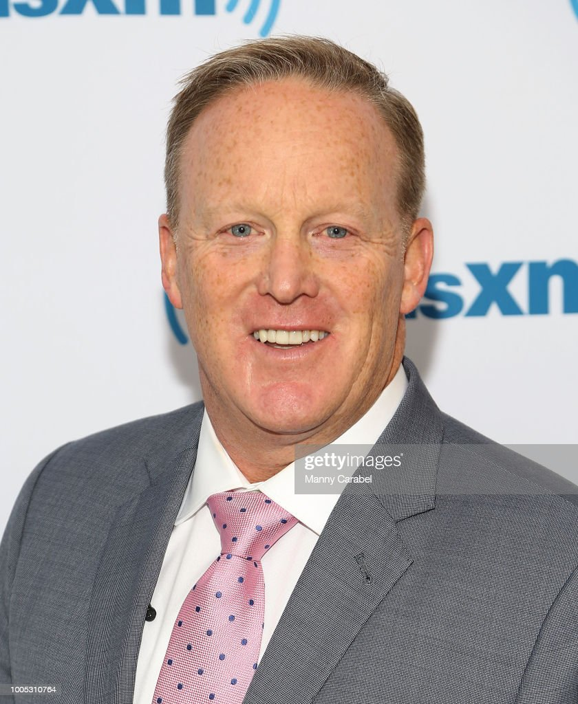 Former White House Press Secretary Sean Spicer visits the SiriusXM Studios on July 25, 2018 in New York City.