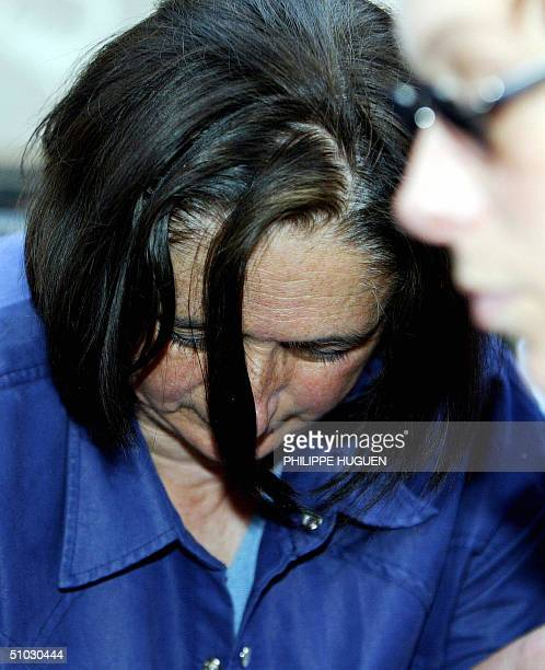 Former wife of French self-confessed serial killer Michel Fourniret, Monique Olivier arives for an a confrontation in the the Investigation Police...