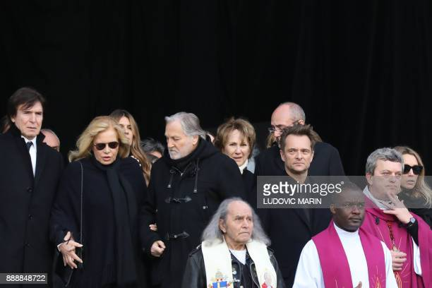 Former wives of late French singer Johnny Hallyday French actress Nathalie Baye French singer Sylvie Vartan and her husband US actor and film...