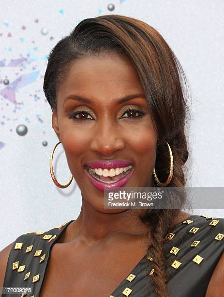 Former WMBA player Lisa Leslie attends the 2013 BET Awards at Nokia Theatre LA Live on June 30 2013 in Los Angeles California