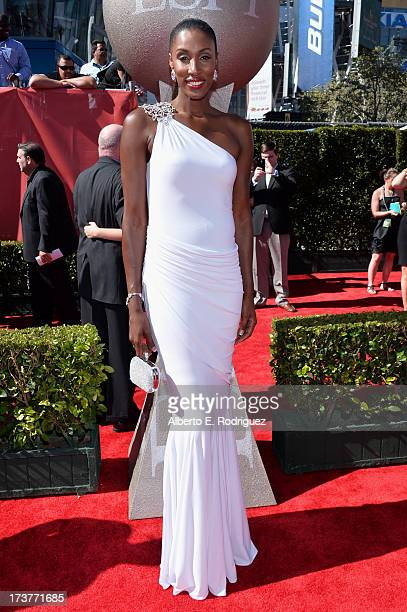 Former WNBA basketball player Lisa Leslie attends The 2013 ESPY Awards at Nokia Theatre LA Live on July 17 2013 in Los Angeles California