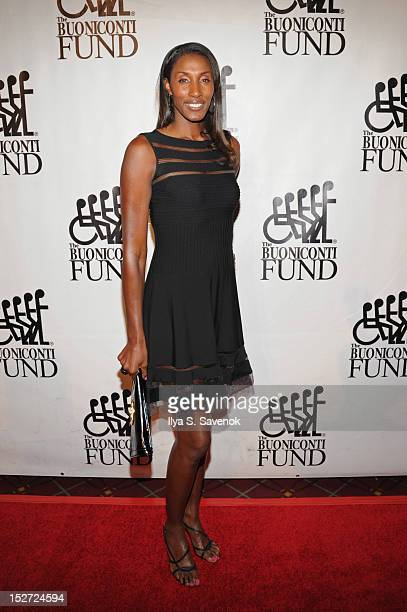 Former WNBA basketball player Lisa Leslie attends the 27th Annual Great Sports Legends Dinner to benefit the Buoniconti Fund to Cure Paralysis at The...