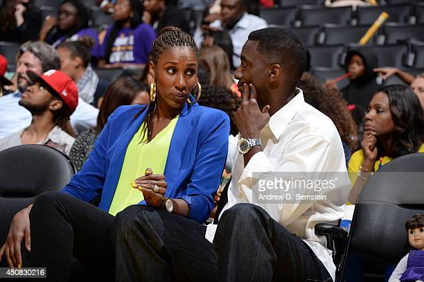 Former WNBA player Lisa Leslie attends a game with her husband Michael Lockwood at STAPLES Center on June 17 2014 in Los Angeles California NOTE TO...
