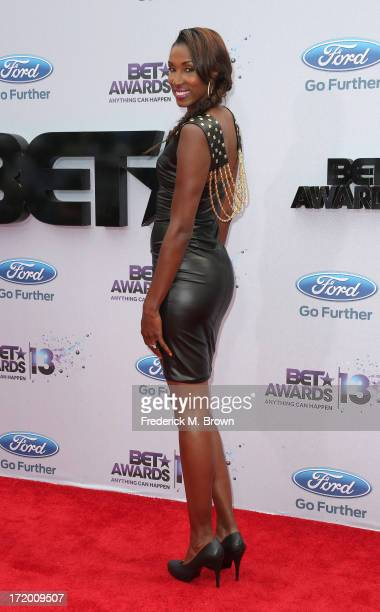 Former WNBA player Lisa Leslie attends the 2013 BET Awards at Nokia Theatre LA Live on June 30 2013 in Los Angeles California