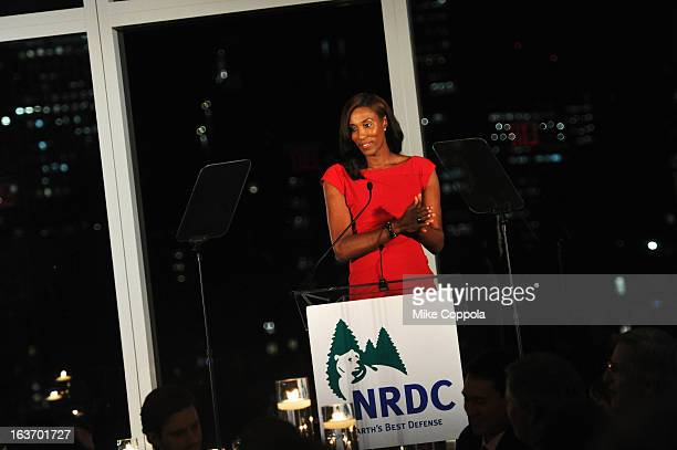 Former WNBA player Lisa Leslie attends the 2013 Natural Resources Defense Council Game Changer Awards at the Mandarin Oriental Hotel on March 14 2013...