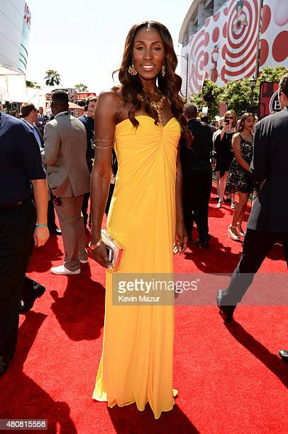 Former WNBA player Lisa Leslie attends The 2015 ESPYS at Microsoft Theater on July 15 2015 in Los Angeles California