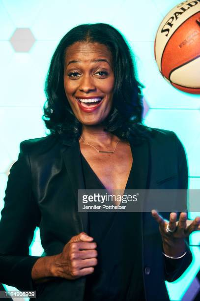 Former WNBA player Swin Cash poses for a portrait during the 2019 NBA AllStar circuit on February 14 2019 at the Sheraton Hotel in Charlotte North...