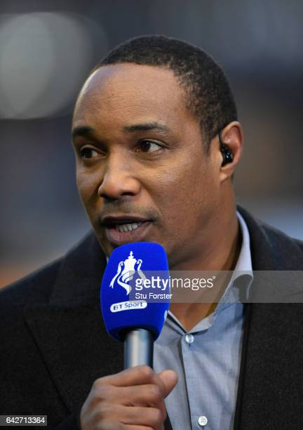 Former Wolves player Paul Ince on media duties before The Emirates FA Cup Fifth Round match between Wolverhampton Wanderers and Chelsea at Molineux...