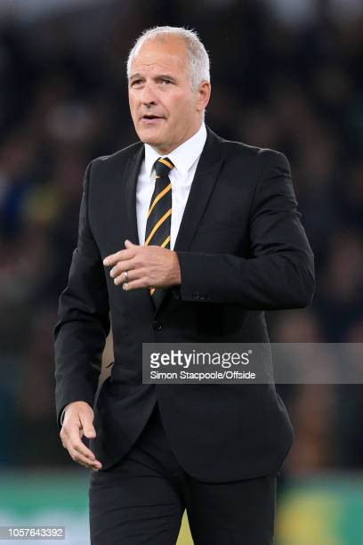 Former Wolves player Steve Bull looks on ahead of the Premier League match between Wolverhampton Wanderers and Tottenham Hotspur at Molineux on...