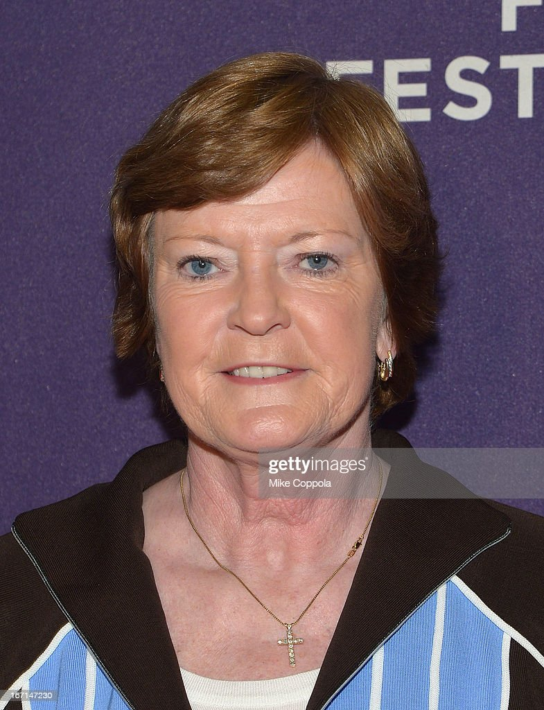 Former women's college basketball head coach Pat Summit attends the world premiere of ESPN movie 'Pat XO' on April 21, 2013 in New York City.