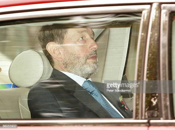 Former Work and Pensions Secretary David Blunkett leaves Downing Street after a meeting with Pime Minister Tony Blair on November 2 2005 in London...