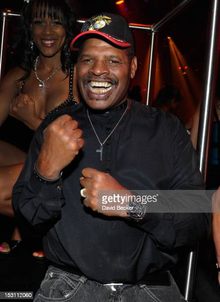 Former world champion boxer Leon Spinks attends the Hublot's Legendary Evening of Boxing afterparty at The Bank Nightclub at the Bellagio on...