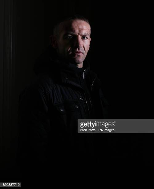 Former World Champion boxer Scott Harrison poses for the photographer ahead of his fight against Liam Walsh for the WBO European Lightweight...