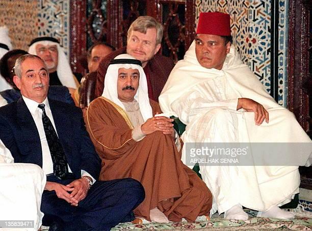 Former World Heavyweight Champion Muhammad Ali the American theologian converted to Islam Khalid Blankship United Arab Emirates ambassador in Rabat...