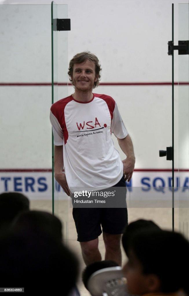 Former World No 1 squash star Peter Nicol of the United Kingdam in Mumbai.