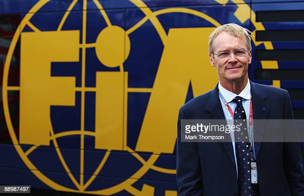 Former world rally champion Ari Vatanen of Finland is seen in the paddock before the German Formula One Grand Prix at Nurburgring on July 12 2009 in...