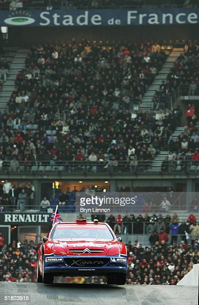 Former World Rally Champion Colin McRae in action during the Race of Champions at the Stade de France on December 4 2004 in Paris France