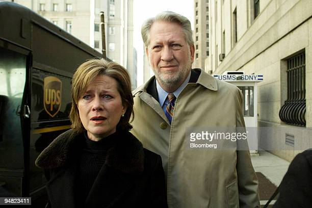 Former WorldCom Inc CEO Bernard Ebbers and his wife Kristie leave Manhattan Federal Court after Ebbers was found guilty by a jury of fraud charges in...