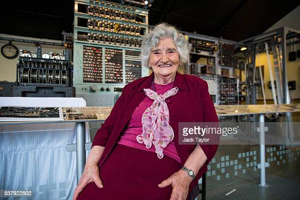 Former Wren and Colossus operator at Bletchley Park Irene Dixon pictured at The National Museum of Computing on June 3 2016 in Bletchley England...