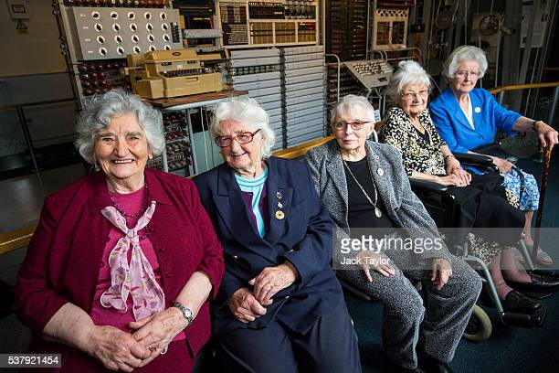 Former Wrens and Colossus operators at Bletchley Park Irene Dixon Lorna Cockayne Shirley Wheeldon Joanna Chorley and Margaret Mortimer pictured in...