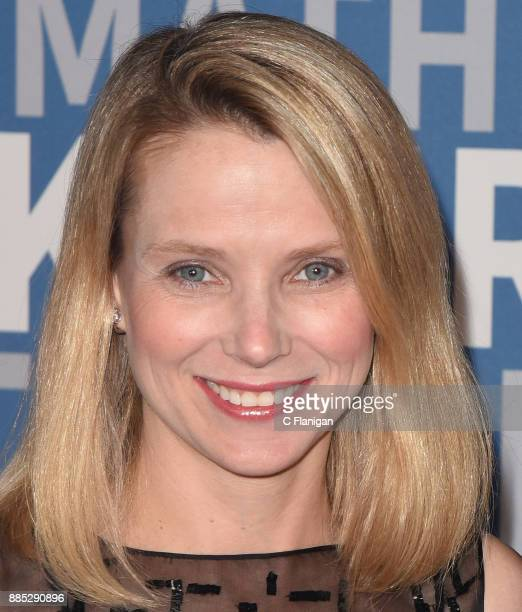 Former Yahoo CEO Marissa Mayer attends the 2018 Breakthrough Prize at NASA Ames Research Center on December 3 2017 in Mountain View California