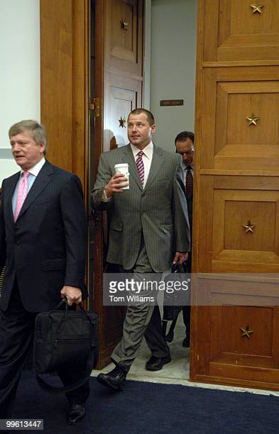 Former Yankee's pitcher Roger Clemens arrives at a House Oversight and Government Reform Committee closed meeting to allegations of his and other's...