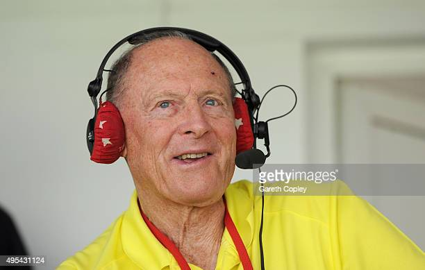 Former Yorkshire and England batsman Geoffrey Boycott speaks on Test Match Special during day three of the 3rd Test between Pakistan and England at...