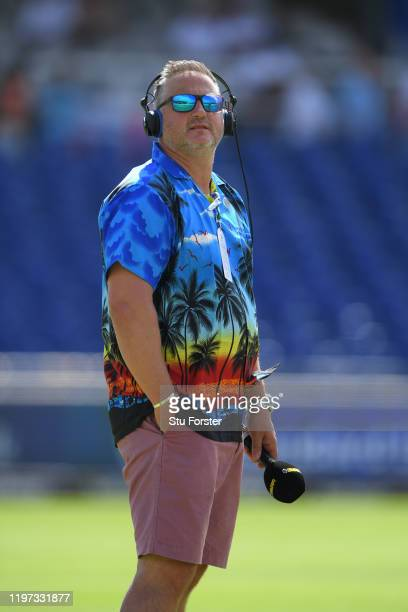 Former Yorkshire and England player and TalkSport commentator Darren Gough sports a splendid colourful shirt before Day One of the Second Test...
