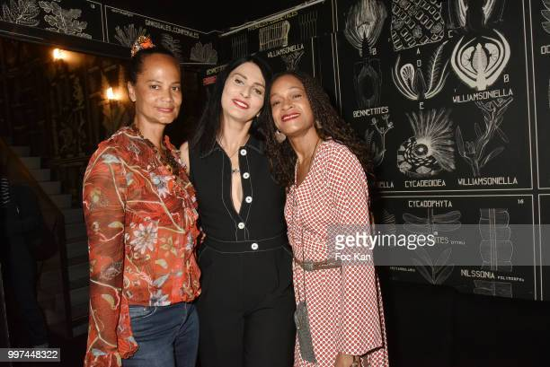 Former Yves Saint Laurent top models Michele Gresse Ricci writer Sylvie Ortega MunosÊand Melissa Doucoure attend Sylvie Ortega Munos Book SigningÊ...