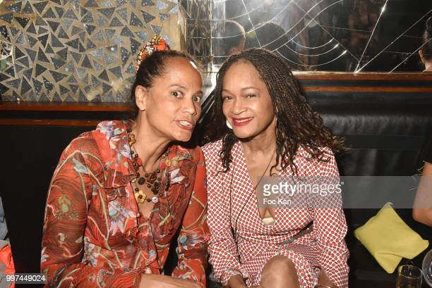 Former Yves Saint Laurent top models Michele Gresse RicciÊand Melissa Doucoure attend Sylvie Ortega Munos Book SigningÊ Party at the Montana on July...