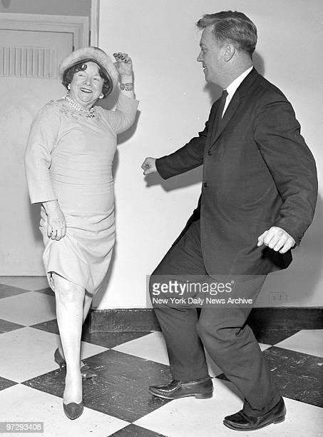Former Ziegfeld gal Bessie Gros Dempsey put the Twist in her dance step with Faul Swanson