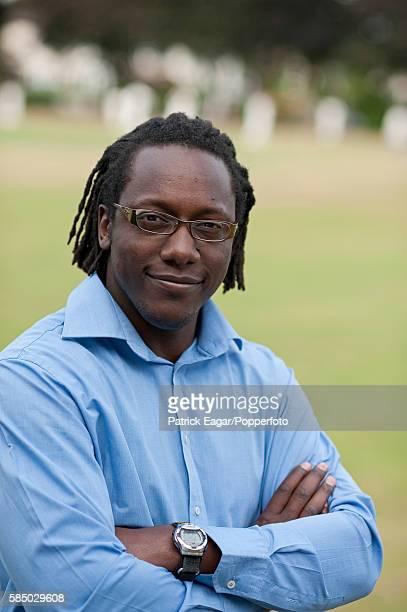 Former Zimbabwe cricketer Henry Olonga at Barnes Cricket Club, London, 6th July 2010.