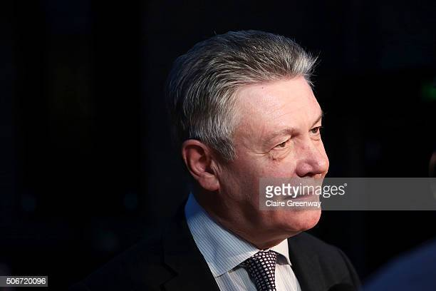 FormerÊEuropean Commissioner for Trade, Karel de Gucht, attends the 'EU Wargames' event at The Porter Tun on January 25, 2016 in London, England. 'EU...
